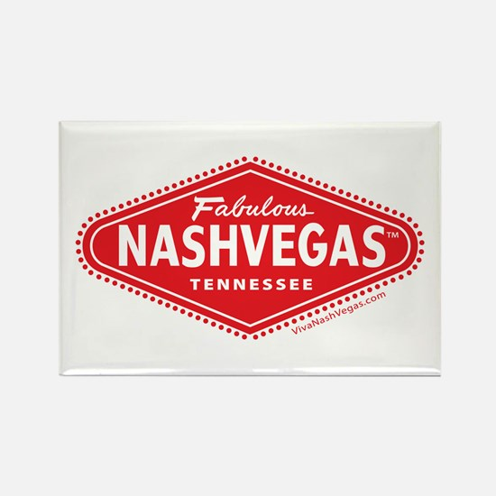 Fabulous NASHVEGAS TM Logo Rectangle Magnet
