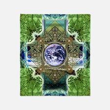 Earth-Ascension-Peace-Mandala Throw Blanket