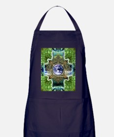 Earth-Ascension-Peace-Mandala Apron (dark)