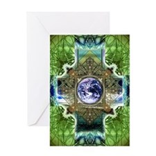 Earth-Ascension-Peace-Mandala Greeting Card