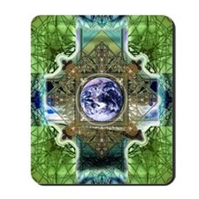 Earth-Ascension-Peace-Mandala Mousepad