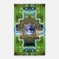 Earth-Ascension-Peace-Mandala 3'x5' Area Rug