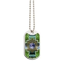 Earth-Ascension-Peace-Mandala Dog Tags