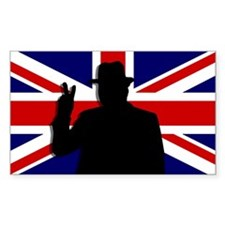 Winston Churchill Victory Rectangle Decal