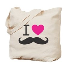 I Heart Mustache Tote Bag