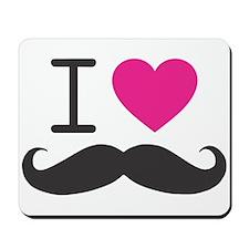 I Heart Mustache Mousepad