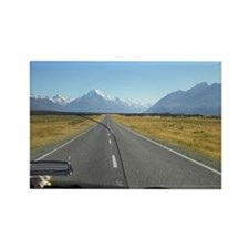 2-2-3500_Heading to Mt Cook NZ Rectangle Magnet