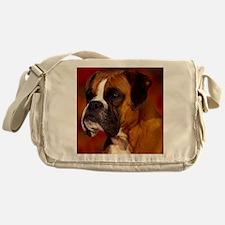 Boxer red pillow Messenger Bag