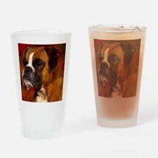 Boxer red pillow Drinking Glass
