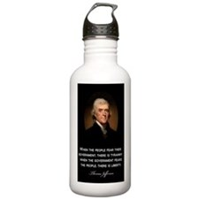 Jefferson-Quote---Tyra Water Bottle