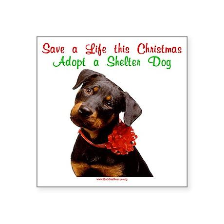 "merry_christmas_15-1 Square Sticker 3"" x 3"""