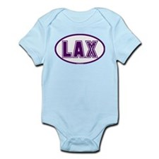 Lacrosse Lax Oval Purple Infant Bodysuit