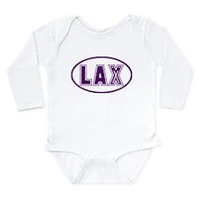 Lacrosse Lax Oval Purple Long Sleeve Infant Bodysu
