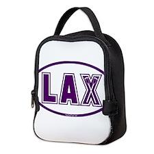 Lacrosse Lax Oval Purple Neoprene Lunch Bag