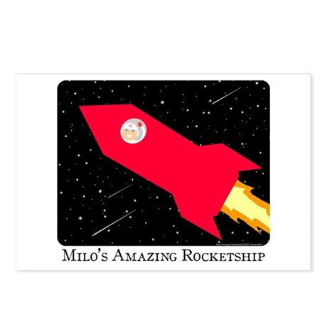 Milo's Amazing Rocketship Postcards (Package of 8)