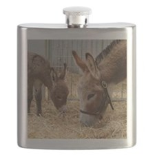 Donkey and her Foal Flask