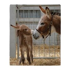 Newborn Donkey Foal Throw Blanket