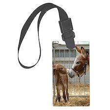 Newborn Donkey Foal Luggage Tag