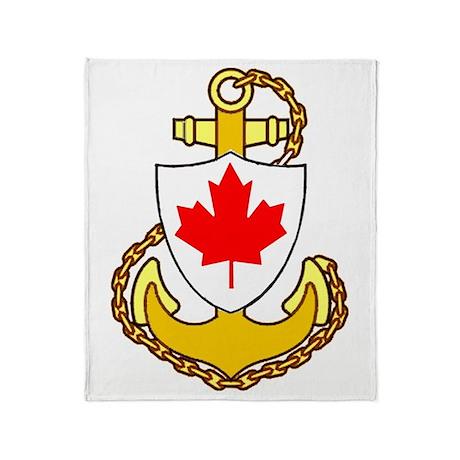 Royal Canadian Navy Throw Blanket