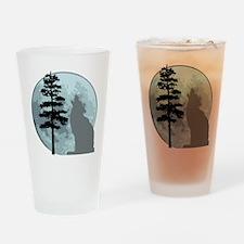 wolfmoongray Drinking Glass