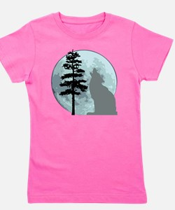 wolfmoongray Girl's Tee