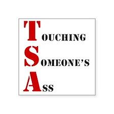 """tsa004 Square Sticker 3"""" x 3"""""""