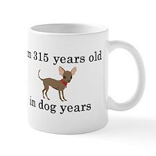 45 birthday dog years chihuahua 2 Mugs