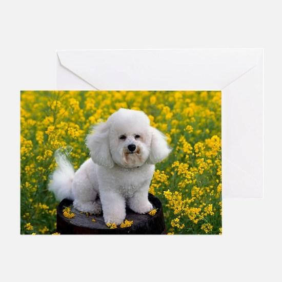 Bichon calendar Greeting Card