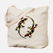 Tapestry Flowers Lizards Tote Bag
