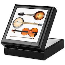 AMTVCafePressMandoBanjoViolin Keepsake Box