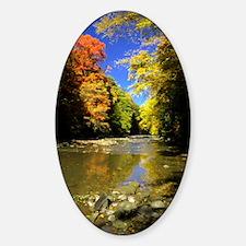 autumn river Decal