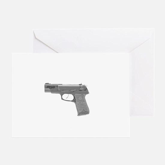 SHIRT-Guns Dont Kill People For Dark Greeting Card