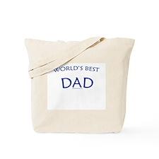 World's Best Dad (Navy) - Tote Bag