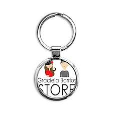 Graciela Barrios Store logo_square Round Keychain