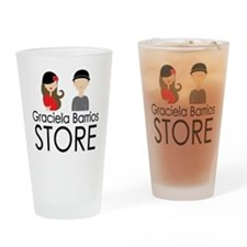 Graciela Barrios Store logo_square Drinking Glass