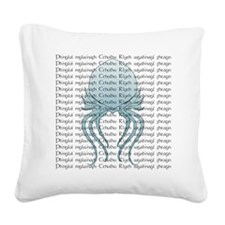 Cthulhuhead01 Square Canvas Pillow