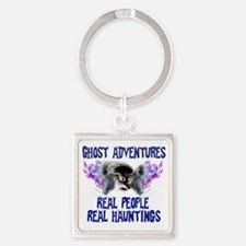 Ghost Adventures BlueT-Shirt Square Keychain