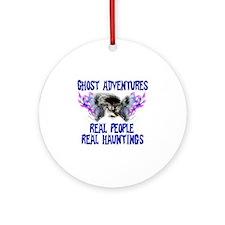 Ghost Adventures BlueT-Shirt Round Ornament