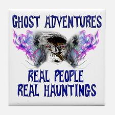 Ghost Adventures BlueT-Shirt Tile Coaster