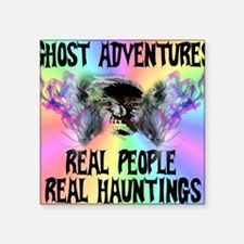 "Ghost Adventures Pastel T-S Square Sticker 3"" x 3"""