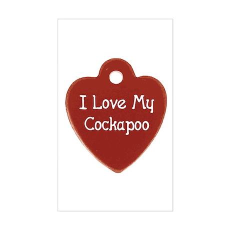 Cockapoo Tag Rectangle Sticker