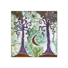 "Two Trees Square Sticker 3"" x 3"""