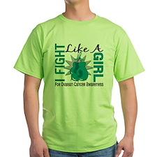 Fight Like A Girl Ovarian Cancer 8.5 T-Shirt