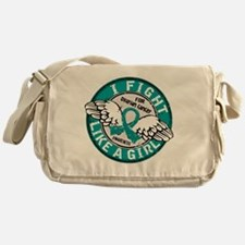 Fight Like A Girl Ovarian Cancer 16. Messenger Bag