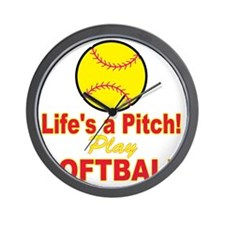lifes a pitch Wall Clock
