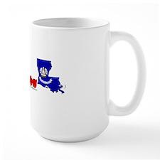 LAstateFlagILYbs Mug