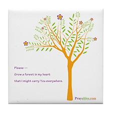 New Tree Praywear Tile Coaster