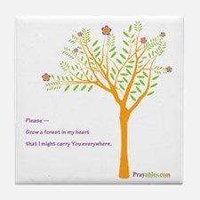 New Tree Praywear Tile Coaster