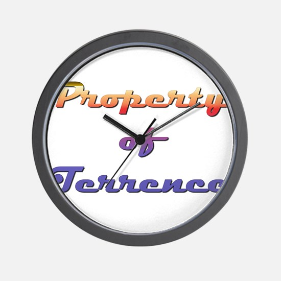 Property Of Terrence Male Wall Clock