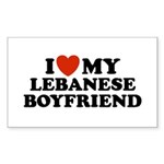 I Love My Lebanese Boyfriend Rectangle Sticker